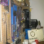 A view of our tool rack shortly after moving in February 2013.