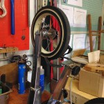 The smallest wheel ever trued in our truing stand.